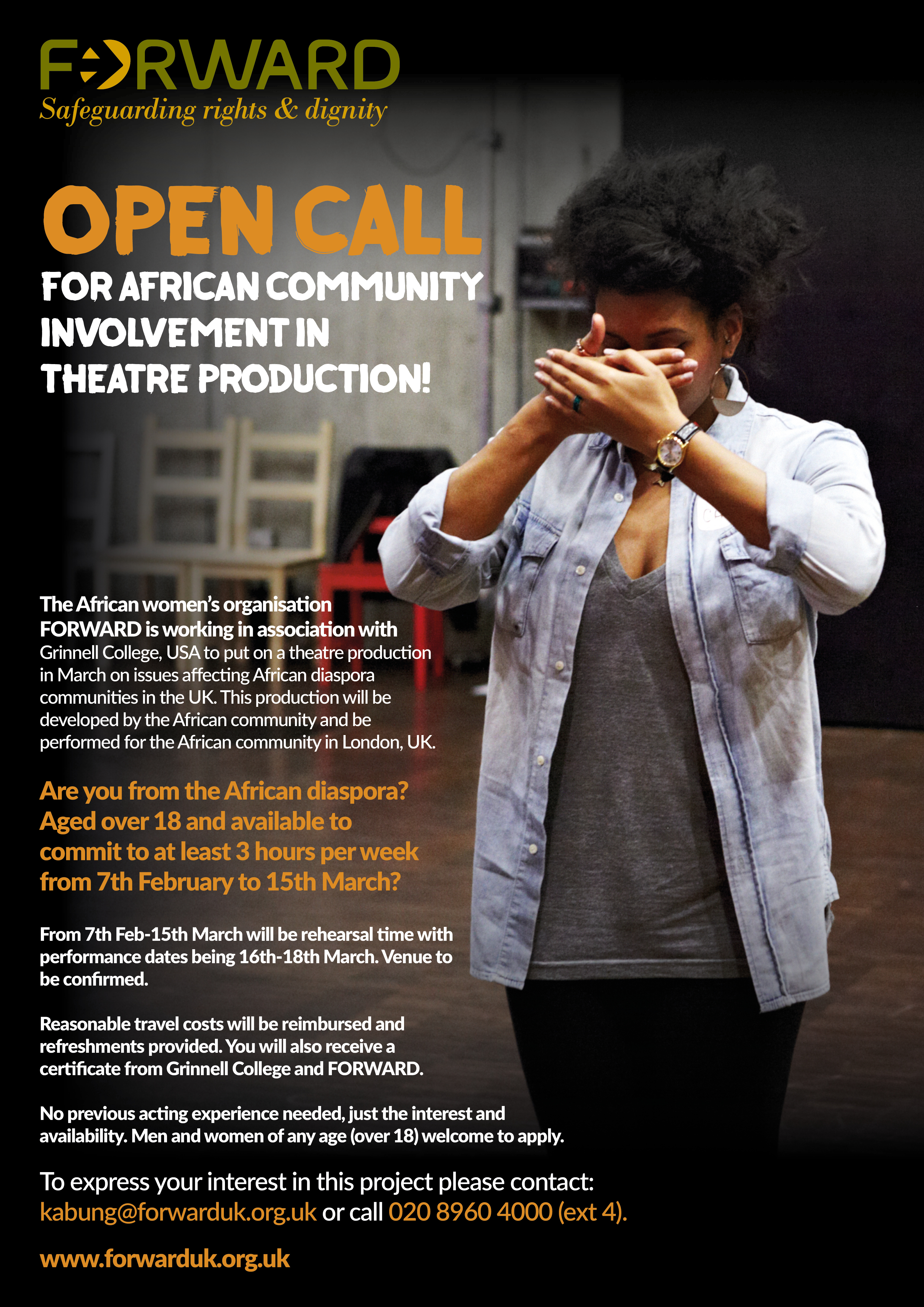 Open Call For African Community Involvement in Theatre Production