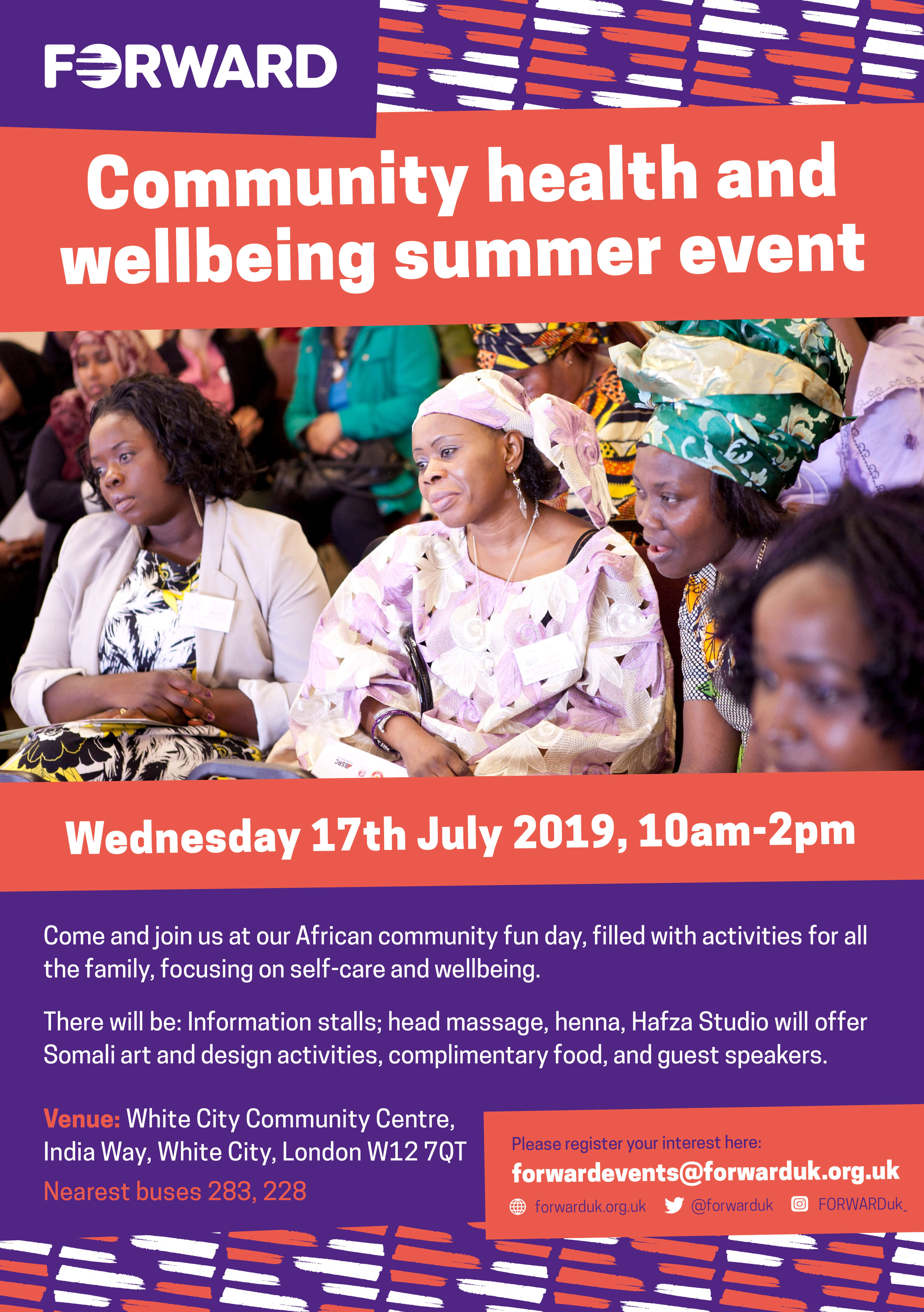 Community Health and wellbeing summer event