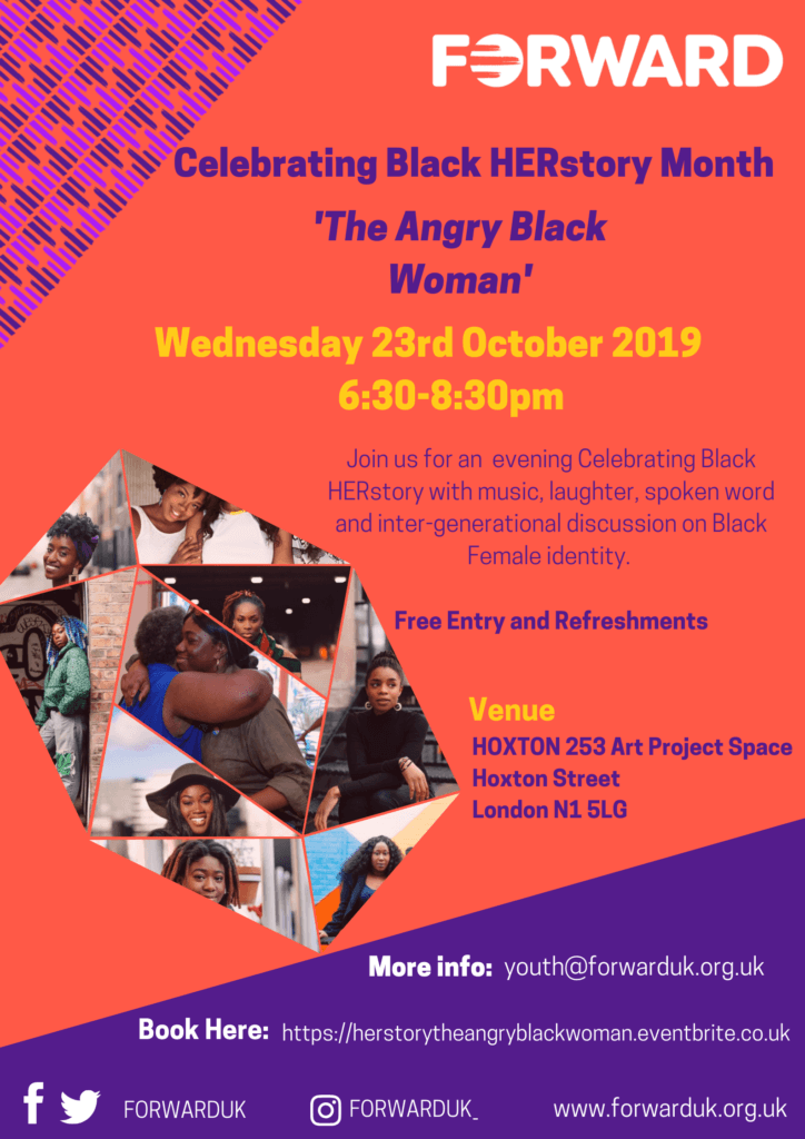 HERstory The Angry Black Woman Event flyer