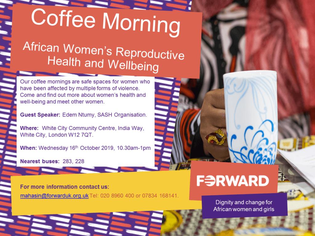 October Coffee Morning flyer